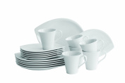 Domestic Professional 18 -piece Coffee Set Leaf Includes 6-coffee Cups/ Saucers/