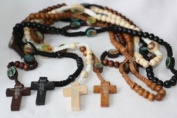 Emeco Rosary Necklace Wood in 4 Colours Handmade CN22