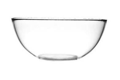 Pasabahce Clear Glass Salad Fruit Display Serving Buffet Dessert Dish Bowl