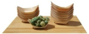Bamboo Wood Boats Mini X100 For Party Foods, Snacks, Nibbles, Canapé 65x42mm X1