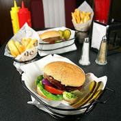 Retro Burger And French Fry Basket   Fast Food Basket With Chip Cone Holder