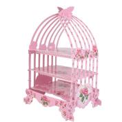 Pink Birdcage Cupcake Flower Designed Display Birthday Party Decoration 3 Tier