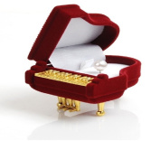 Deluxe Piano Shaped Ring Box