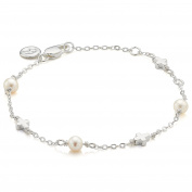 Molly Brown | Holy Communion Pearl Station Cross Bracelet