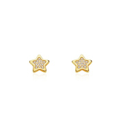 18ct Yellow Gold star children's Earrings