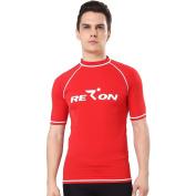 Realon Rash Guards Men UV Protection 50+ Surfing Rashguard Crew Swim Shirt Boys