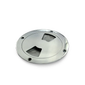 """4"""" Boat Deck Plate by Salty Reef Marine Hardware Made from Heavy Duty 316 Marine Grade Stainless Steel"""