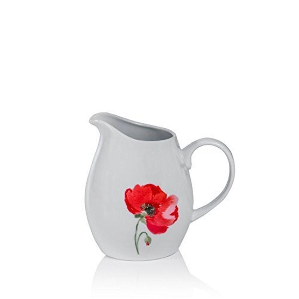 Sabichi Poppy Porcelain Milk Jug - Microwave Dishwasher Safe