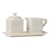 Country Kitchen Sugar And Milk Set, Cream Dolomite