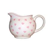 Nina Campbell Bone China Small Cream Jug Pink Hearts Design Dining Kitchen