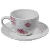Afternoon Design Porcelain Round Coffee Tea Cup Teacup And Saucer Plate White