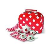 'ladybird' Ladybug Small Porcelain China Tea Set In Case