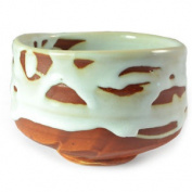 Japanese Matcha Powder Bowl Chawan Green Tea Bowl Cup White Chunky Glaze
