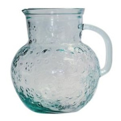 San Miguel Flora Pitcher 2.3l - Made In Spain From Recycled Glass - Large Jug