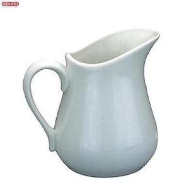 Apollo White Ceramic Jug 0.5l Water Drinks Serveware Kitchen Home New