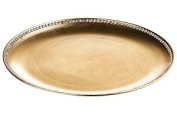 Premier Housewares Coupe Charger Plate With Diamante Edge - 33 Cm, Gold Radiance