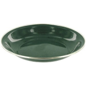 Highlander Deluxe Camping Enamel Soup Plate Hiking Bowl Metal Outdoor Dish Green