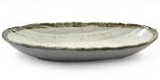 Japanese Ceramic Serving Dish Sushi, Noodles Etc - Beige Glaze Bowl Oval Plate