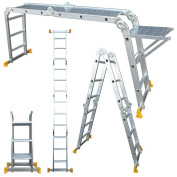 Abbey Aluminium Multi-purpose Ladder 3.7m With New Safety Platform