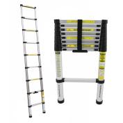 Bentley Diy 2.6 M Aluminium Extendable Extension Telescopic Ladder 150 Kg Load