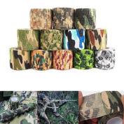 2x Military Stretch Medical Bandage Camouflage Tape Self-adhesive Gun Decor 4.5m