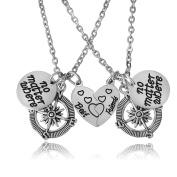 BESPMOSP Best Friends No Matter Where Compass Necklaces Set Best Friend Gifts BFF Friendship Necklace