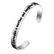 BESPMOSP The Love Between A Mother And Daughter Is Forever Cuff Bracelet Bangle for Mom