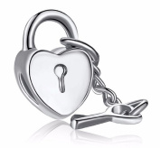 Key To My Heart Love Charm Fits Pandora Bracelet Silver Plated
