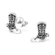 Laimons Ladies' Earrings Ladies' Jewellery boot oxidised 925 Sterling silver