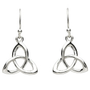 ShanOre Platinum Plated Celtic Trinty Knot Drop Earrings