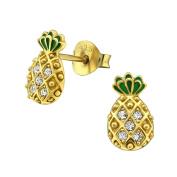 Laimons Ladies' Earrings Ladies' Jewellery pineapple glossy zirconia 925 Sterling silver