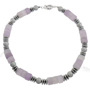 Lassiere Ladies 'Necklace Amethyst Snap Rhodium Plated 50 cm