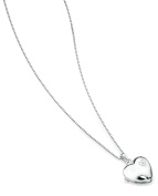 D for Diamond Large Heart Locket Pendant on a Chain of Length 35.5cm