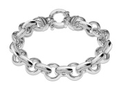 Tuscany Silver Sterling Silver Large Spring Ring Belcher Chain Bracelet of 20.5cm/8.1""