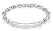 Tuscany Silver Sterling Silver Rhodium Plated . ID Bracelet of 19cm/7.5""