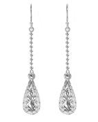 Tuscany Silver Sterling Silver Diamond Cut Teardrop Earrings