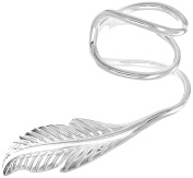 Tuscany Silver Sterling Silver Wire Feather Ear Cuff