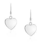 Tuscany Silver Sterling Silver Polished Heart Drop Earrings