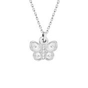 Tuscany Silver Sterling Silver Butterfly Pendant on Chain Necklace of 46cm/18""