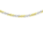 Tuscany Silver Sterling Silver 2 Tone Yellow and White Chain Necklace of 41cm/16""