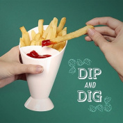 4 X Dipper Snack Cone Stand Fries Dip Sauce Chips Pot Party Finger Food Cafe