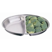 Oval 30cm Vegetable Dish Stainless Steel Serving Plate Tableware