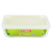 Pyrex Rectangular Dish With Plastic Lid, 1.5l