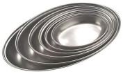 Genware Nev-1261 Oval Veg Dish Stainless Steel 23cm
