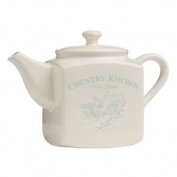 Country Kitchen Teapot, Cream Dolomite, 1650ml