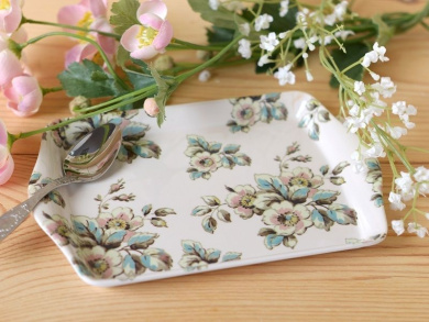 Katie Alice Cottage Flower Melamine Small Scatter Tray