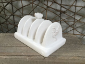Gisela Graham White Ceramic Hen Toast Rack