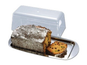 Chg Cake Plate With Lid, Stainless Steel, Silver, 35 X 17 X 10 Cm