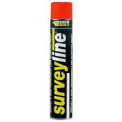 Everbuild Surveyline Marker Spray 700ml Surveyors Contractors Various Colours