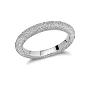 Tuscany Silver Rhodium Plated Frosted Band Ring